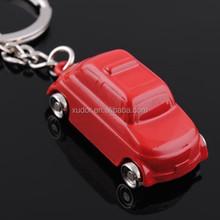 ZINC ALLOY PROMOTIONAL RED CAR KEYRING