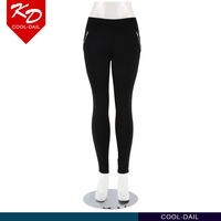 Guangzhou Custom Hot sell soft elastic pants fitness wear with side zipper for women