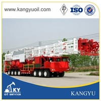 API oilfield truck mounted rig oil /well service workover rig/mobile oil drilling