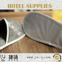 double color wholesale terry cloth slippers and luxury foldable sole of slipper