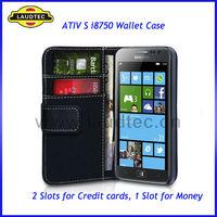 Book Wallet Leather Case for Samsung ATIV S i8750, flip cover for samsung i8750 ativ s