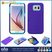 [GGIT] Fashion Colorful Silicone+PC Case for Samsung for Galaxy S6 Cover with Good Feel