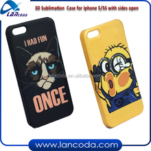 sublimation blanks 3D sublimation cell phone case for iphone5,sublimation 3d vacumm machine mobile phone cover printing