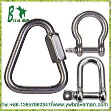 carabiner keychain Non-Rust Stainless Steel Carabiner Spring Snap Link with Lock