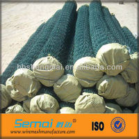 Top Sale High Quality PVC Coated Galvanized Green Color Vinyl Coated Chain Link Wire Mesh Fence(ISO9001;MANUFACTURER)