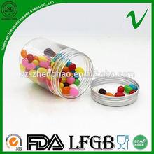 250ml PET clear PET plastic container with plastic lid/ Aluminum lid