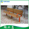 High Quality Used Outside HDPE Solid Wood Outdoor Bench For Bus Station