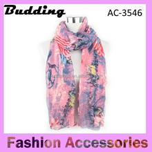 Hot selling fashion America flag seamless infinity scarf