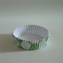 popular green cherry blossom paper cupcake liners in drench the membrane small size/recycled cupcake liners