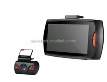Alibaba factory selling fhd 1080p 2.7inch 170 degree Allwinner dual lens car dashcam video recorder blackbox car dvr camera