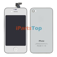 Colored Conversion Kit For iPhone 4S Mirror Silver LCD Screen With Digtiizer Assembly + Home Button + Back Cover Full Set