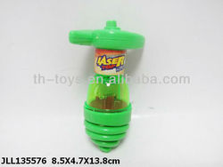 Plastic Laser Peg Top,Spinnning Top Toy.With flash light
