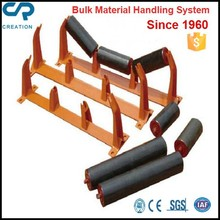 Long life working trough roller for conveyor high load capacity
