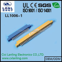 3.96mm Pitch Edge Card Connector 12 14 16 18 20 24 30 36 40 44 50 56 60 62 72 86 pin CE ROHS LL1006-1