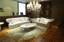 Caliente moderna de gama alta de lujo de estilo italiano blanco sofá de la sala de muebles de cuero
