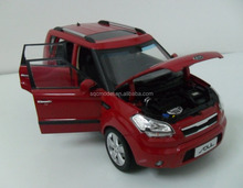 Custom kia soul dongguan die cast model car toy factory 1:18 for collection