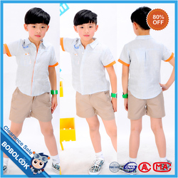 Online wholesale shop comfortable short sleeve new style fashion boy's shirt