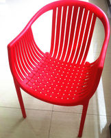 2015 simple design all PP plastic chair easy armchair living room red leisure chair