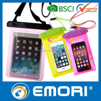 Top quality universal promotional 100% sealed ABS Vinyl waterproof pouch for iPhone/for iPad