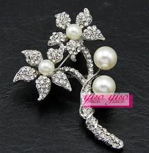 small fresh crystal flower brooch