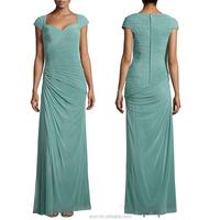 Own clothing factory Euorp market Wholesale quality Plain solid Celebration plain evening dress