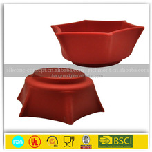 Colorful Food Grade Eco-friendly Silicone Collapsible/Foldable dog Water/Food Bowls