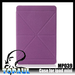 New arrival pu leather stand smart cover for iPad mini smart cover