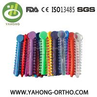 Orthodontic material dental ligature tie 36colors elasticos ortodoncia