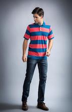 Mens fashion polo t-shirt, polo t-shirts with striped