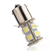 led car logo door light for saab 1156 BA15S Car 5050 SMD 13 LED White Turn Light Bulb Lamp