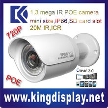 CHEAP DAHUA IP CAMERA DH-IPC-HFW2100N small ir bullet IR 20M 720P with POE 802.3 af low lux easy install CCTV bullet camera