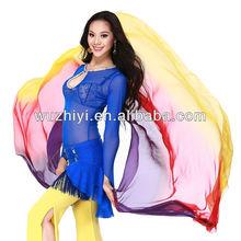 Velos de seda para danza de vientre accesorios de danza del vientre para mujer