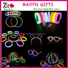 New christmas festivities ceremony fluorescent bracelets,night glow sticks,LED toys for Olympic quality first