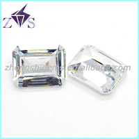 China Fashion Jewellery Stone White Step Cut Synthetic CZ