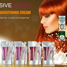 GMP Certified Professional Salon Use Herbal Hair Straightening Cream Permanent - smooths the cuticle & helps prevent damage