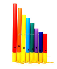 8 notes colorful sound plastic tubes