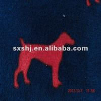100% Polyester Dog Print Polar Fleece Fabric