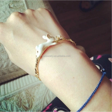 Europe and the United States personality bracelet with white spot black mop jewel butterfly bracelet