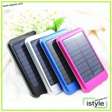 5000mah perfume cell phone solar power bank recharge by electric or solar