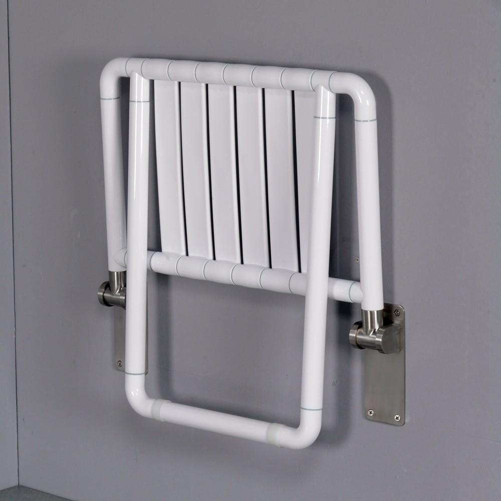 mur mont anti bact rien nylon pliant si ge de douche avec support pour handicap s autres. Black Bedroom Furniture Sets. Home Design Ideas
