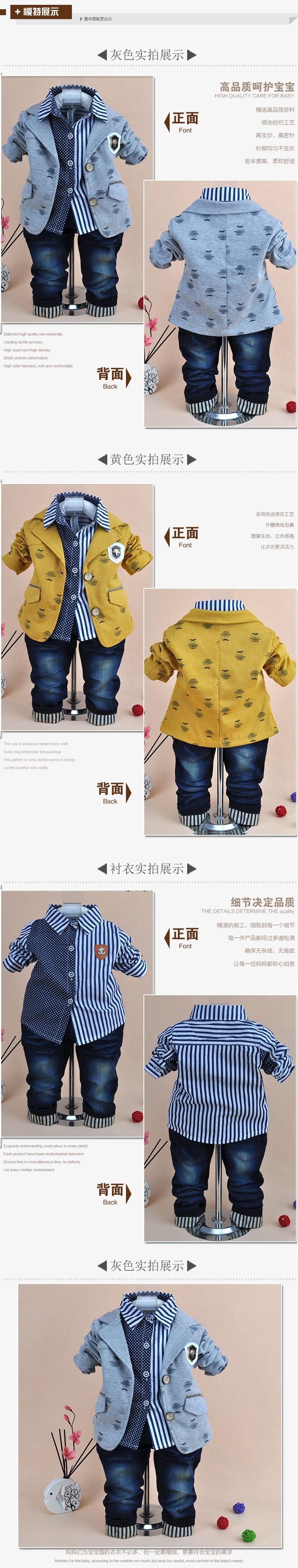 Скидки на 0-5Y ребенка мальчик господа одежда набор 3 шт. мальчики одежда дети джинсы костюм комплект детской одежды мальчиков платья мальчик одежда