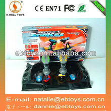 Electric Magnetic toy top with combat dish