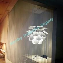 Environmental friendly anodized metal chain curtains