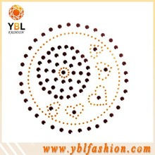 rhinestone studs popular design wholesale iron on fabric labels
