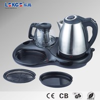 Promotion stainless steel electric Tea Tray 3 in 1
