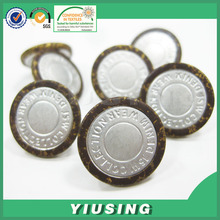 China button factory custom laser engraved buttons