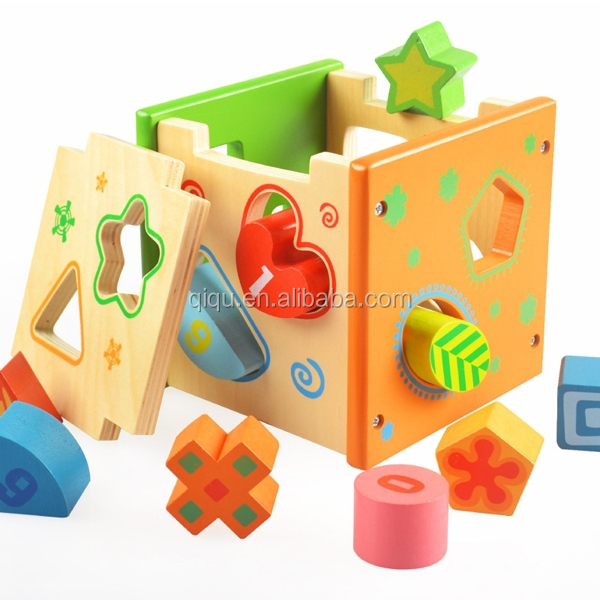 تربية الاطفال اللعب وخشبيةكتل شكل لون مطابق