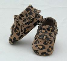Best Price Vivid leopard print Wholesale moccasins Baby Shoes Leather