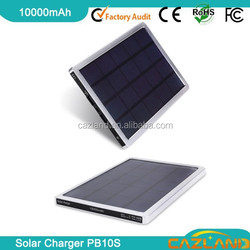 10000MAH Movable Solar Mobile Phone Battery Recharger For Cellphone