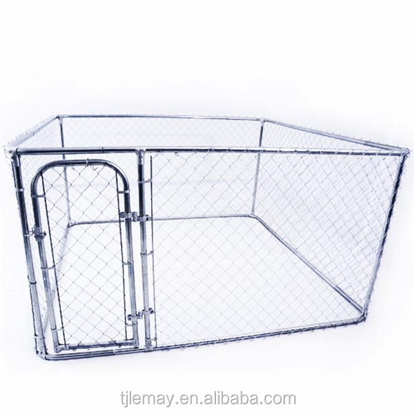2-in-1 Large outdoor galvanized metal dog kennel wholesale